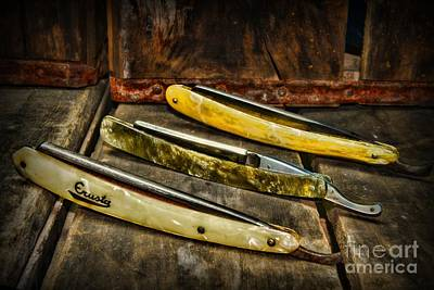 Hair Cuts Photograph - Barber - Vintage Razors by Paul Ward