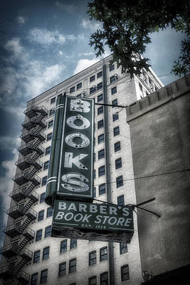 Bookshop Photograph - Barbers Book Store by Joan Carroll