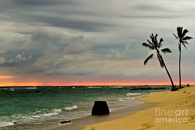 Barbers Point Sunset Art Print by Terry Cotton