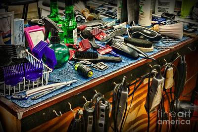 Electric Razor Photograph - Barbershop - So Many Tools	 by Paul Ward