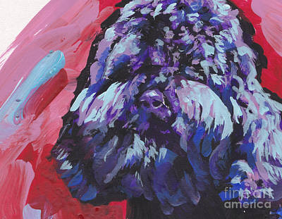 Dog Art Painting - Barbet by Lea S