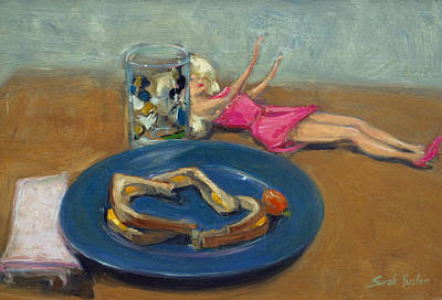 Painting - Barbie And Grilled Cheese by Sarah Yuster