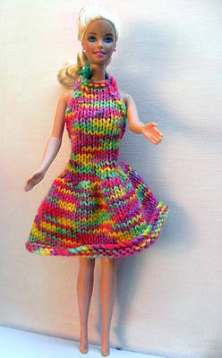 A Summer Evening Photograph - Barbie Doll In A Dress For A Summers Evening by L M Reid