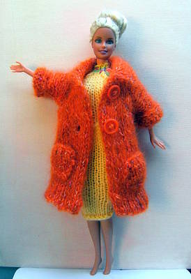 Knitted Dress Photograph - Barbie Doll In Knitted Clothes by L M Reid