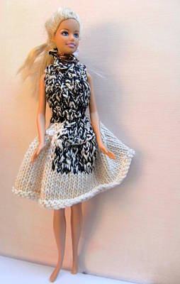 A Summer Evening Photograph - Barbie Doll On A Night Out by L M Reid