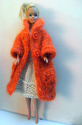 A Summer Evening Photograph - Barbie In A Dress And Coat by L M Reid