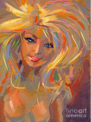 Bed Painting - Barbie Licious by Kimberly Santini