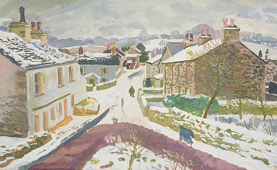 Winter Scene Painting - Barbon In The Snow by Stephen Harris