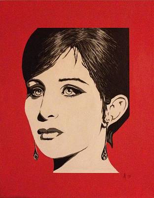 Streisand Painting - Barbra Sterisand - Commissioned by Steve Kelly
