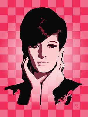 Barbra Streisand Digital Art - Barbra Streisand - Hello Gorgeous - Pop Art by William Cuccio aka WCSmack