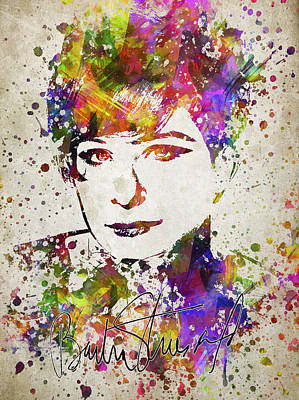 Barbra Streisand Drawing - Barbra Streisand In Color by Aged Pixel