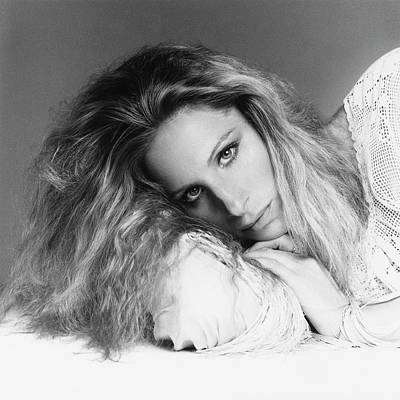 Film Photograph - Barbra Streisand Lying Down by Francesco Scavullo