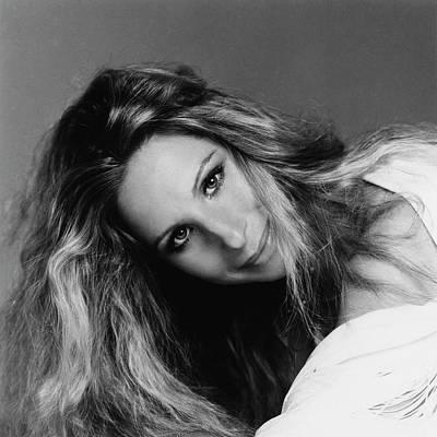 Barbra Streisand Wearing Hair Cut And Colored Art Print