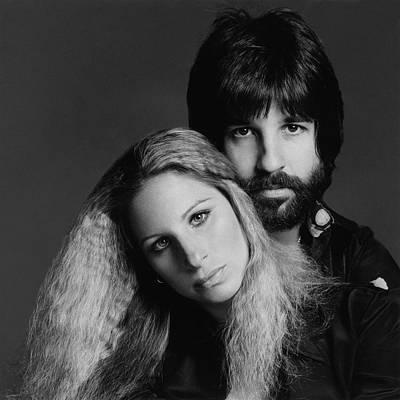 Photograph - Barbra Streisand With Hair Stylist Jon Peters by Francesco Scavullo