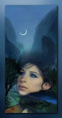 Barbra's Smiling Moon Art Print