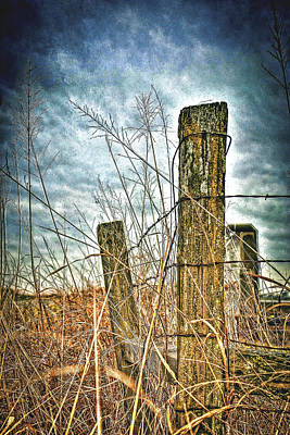 Art Print featuring the photograph Barbwire Fences by William Havle