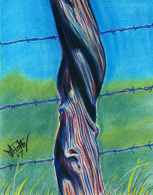 Painting - Barbwire by Michael Foltz