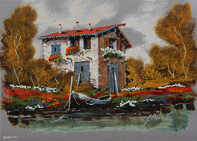 Barca Al Molo Original by Guido Borelli