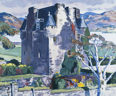 Ground Painting - Barcaldine Castle by Francis Campbell Boileau Cadell