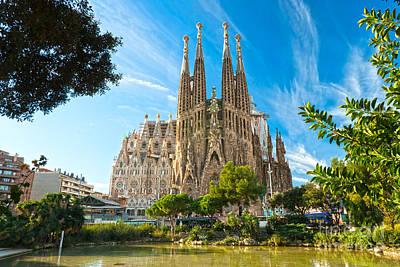 Barcelona - La Sagrada Familia Art Print