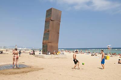Barcelona Beach Spain Print by Matthias Hauser