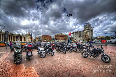 Photograph - Barcelona Bikes  by Yhun Suarez