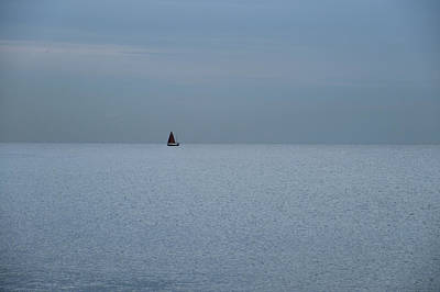 Photograph - Lonely Boat In Barcelona  by Dubi Roman
