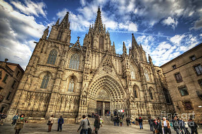 Photograph - Barcelona Cathedral 2.0 by Yhun Suarez