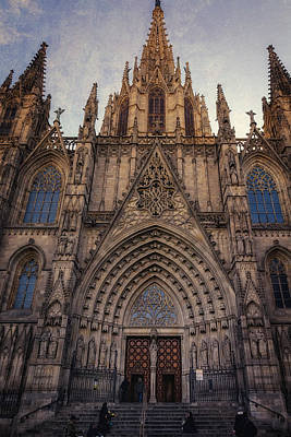 Church Photograph - Barcelona Cathedral by Joan Carroll