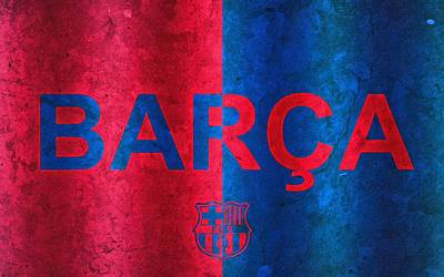 Stadium Digital Art - Barcelona Football Club Poster by Florian Rodarte