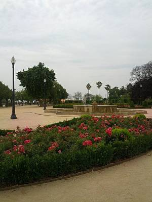 Digital Art - Barcelona Gardens by Shesh Tantry