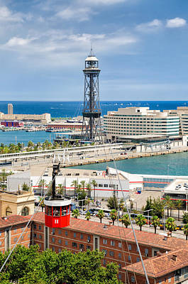 Photograph - Barcelona Harbor Seen From Montjuic Hill by Matthias Hauser