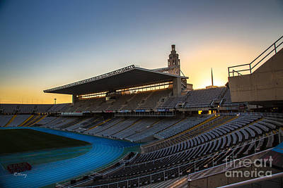 Photograph - Barcelona Olympic Stadium by Rene Triay Photography