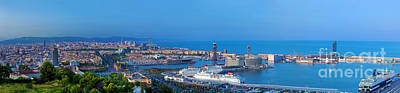 Photograph - Barcelona Panorama by Michal Bednarek