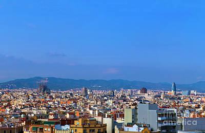 Photograph - Barcelona Skyline by Michal Bednarek