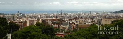 Photograph - Barcelona Spain - Parc Guell View by Gregory Dyer