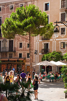Photograph - Barcelona Spain Placa Del Pi by Matthias Hauser