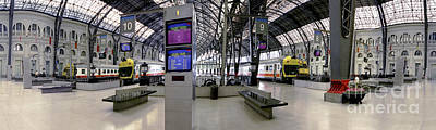 Photograph - Barcelona Spain Sants Train Station 2 by David Zanzinger