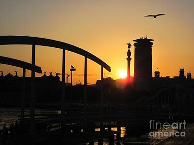 Barcelona Sunset Art Print