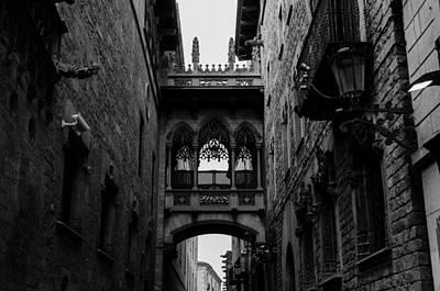 Photograph - Barcelona - The Gothic Quarter by Andrea Mazzocchetti