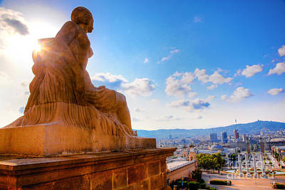 Castle Photograph - Barcelona View From Catalunya National Museum Of Art by Michal Bednarek