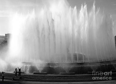 Barcelona Water Fountain Joy Art Print
