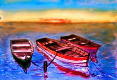 Buy Painting - Barche by Marcello Cicchini