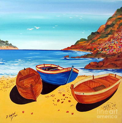 Barche Siciliane Art Print by Roberto Gagliardi