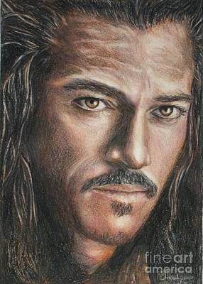 Drawing - Bard The Bowman / Luke Evans by Christine Jepsen