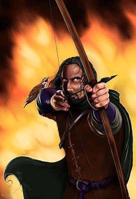 Bard The Bowman Art Print