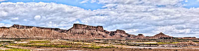 Bardenas Desert Panorama 1 Art Print
