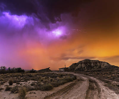 Power Photograph - Bardenas Storm by Martin Zalba
