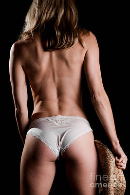 Bare Back Cowgirl Art Print