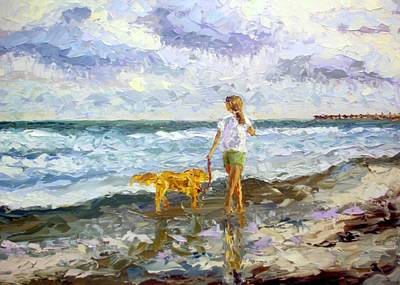 Isle Of Palms Painting - Barefoot Afternoon by Arlon Rosenoff